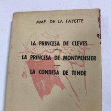 Libros de segunda mano: OBRAS DE MADAME DE LA FAYETTE. CRISOL Nº 64. MADRID, 1961. 3ª EDICIÓN. PAGS: 415. Lote 248026325