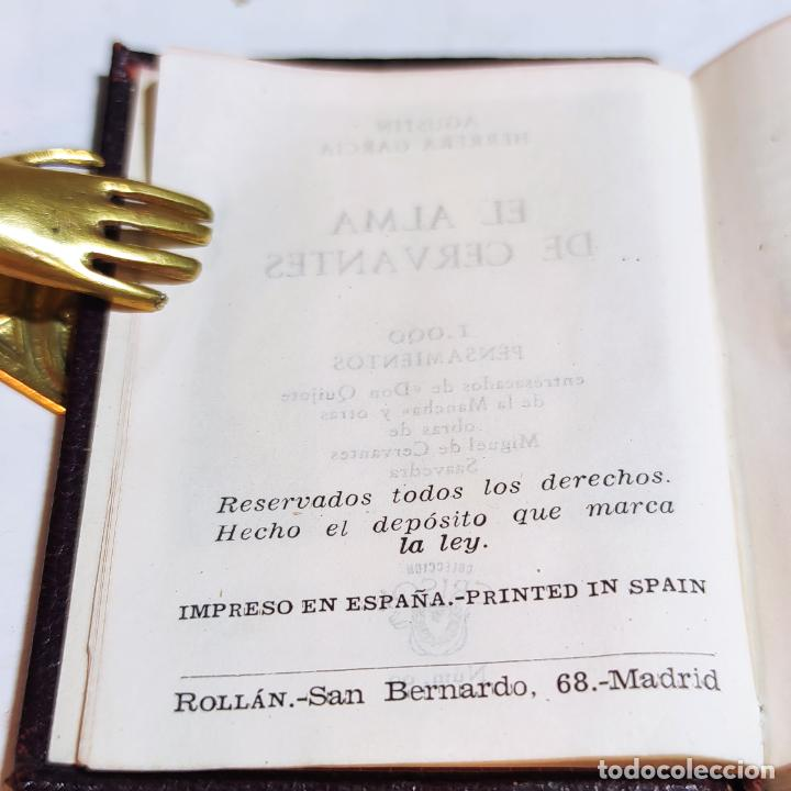 Libros de segunda mano: Agustín Herrera García. El alma de Cervantes. Crisolín nº 00. 1ª edición. Aguilar. 1947. - Foto 5 - 251590930