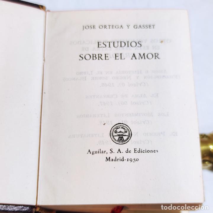 Libros de segunda mano: José Ortega y Gasset. Estudio sobre el amor. Crisolín nº 03. 1ª edición. Aguilar. 1950. - Foto 2 - 251591395