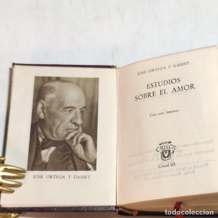 Libros de segunda mano: José Ortega y Gasset. Estudio sobre el amor. Crisolín nº 03. 1ª edición. Aguilar. 1950. - Foto 4 - 251591395