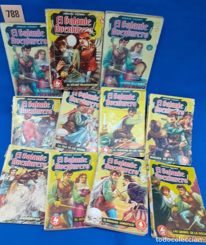 LOTE 788 NOVELAS BOLSILLO EL GALANTE AVENTURERO (Libros de Segunda Mano (posteriores a 1936) - Literatura - Narrativa - Clásicos)