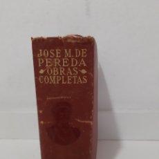 Libros de segunda mano: LIBRO JOSE MARIA DE PEREDA OBRAS COMPLETAS. 1945 EDITORIAL AGUILAR. Lote 252933820