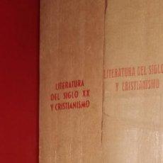 Libros de segunda mano: CHARLES MOELLER: LITERATURA DEL SIGLO XX Y CRISTIANISMO. VOLS. I-III. COMPARTIR LOTE. Lote 253094985