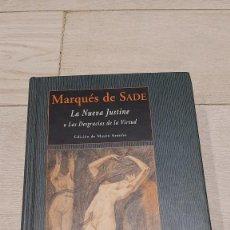 Libros de segunda mano: LA NUEVA JUSTINE O LAS DESGRACIAS DE LA VIRTUD. MARQUES DE SADE. EDITORIAL VALDEMAR. Lote 253514780