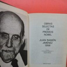 Livres d'occasion: OBRAS SELECTAS DE PREMIOS NOBEL JUAN RAMÓN JIMÉNEZ PLANETA 1956. Lote 253635585