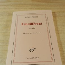 Libros de segunda mano: LIVRE ... L'INDIFFERENT . MARCEL PROUST ... LIBRO EN FRANCES. Lote 253997270