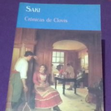 Livres d'occasion: CRÓNICAS DE CLOVIS - SAKI. Lote 254015810