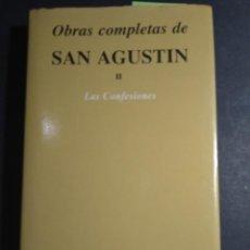 Libros de segunda mano: OBRAS COMPLETAS DE SA AUGUSTIN II. LAS CONFESIONES. Lote 254154720