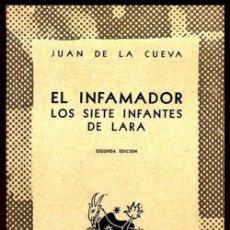 Libros de segunda mano: COLECCION AUSTRAL. Nº 895. JUAN DE LA CUEVA. EL INFAMADOR. LOS SIETE INFANTES DE LARA.. Lote 254649335