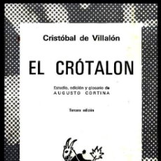 Libros de segunda mano: COLECCION AUSTRAL. Nº 264. CRITOBAL DE VILLALON. EL CROTALON. ED. AUGUSTO CORTINA.. Lote 254650135