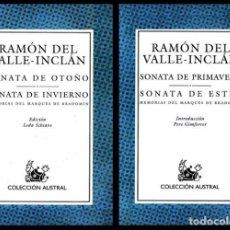 Libros de segunda mano: COLECCION AUSTRAL. Nº 61/37. RAMON DEL VALLE INCLAN. 2 T. SONATA. OTOÑO. INVIERNO. PRIMAVERA. ESTIO.. Lote 254650750