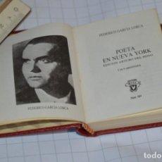 Libros de segunda mano: EDITORIAL AGUILAR CRISOL - NÚM 049 SERIE ESPECIAL - POETA EN NUEVA YORK / FEDERICO GARCÍA LORCA. Lote 256042865