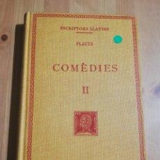 Libros de segunda mano: COMÈDIES. VOLUM II (PLAUTE). Lote 256085190
