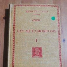Libros de segunda mano: LES METAMORFOSIS. LLIBRES I-IV, VOLUM I (APULEU). Lote 256085370