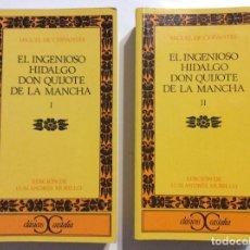 Libros de segunda mano: EL INGENIOSO HIDALGO DON QUIJOTE DE LA MANCHA MIGUEL DE CERVANTES ED. LUIS ANDRES MURILLO CASTALIA. Lote 259043270