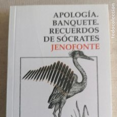 Libros de segunda mano: APOLOGÍA / BANQUETE / RECUERDOS DE SÓCRATES - JENOFONTE. Lote 260080135