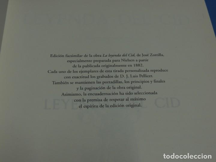 Libros de segunda mano: LA LEYENDA DEL CID ESCRITA EN VERSO - JOSE ZORRILLA - ILUSTRADA POR PELLICER - Foto 2 - 261117960
