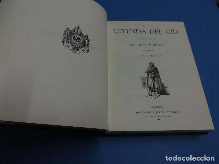 Libros de segunda mano: LA LEYENDA DEL CID ESCRITA EN VERSO - JOSE ZORRILLA - ILUSTRADA POR PELLICER - Foto 3 - 261117960