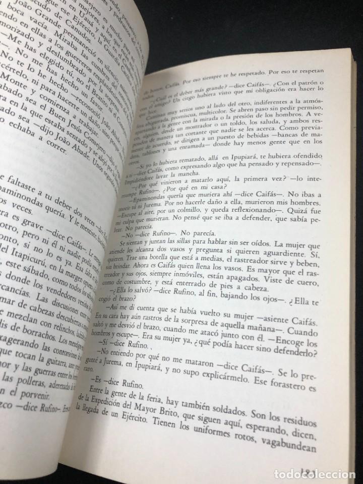Libros de segunda mano: La guerra del fin del mundo Mario Vargas Llosa, Seix Barral 1981 1ª edición. - Foto 7 - 261364405