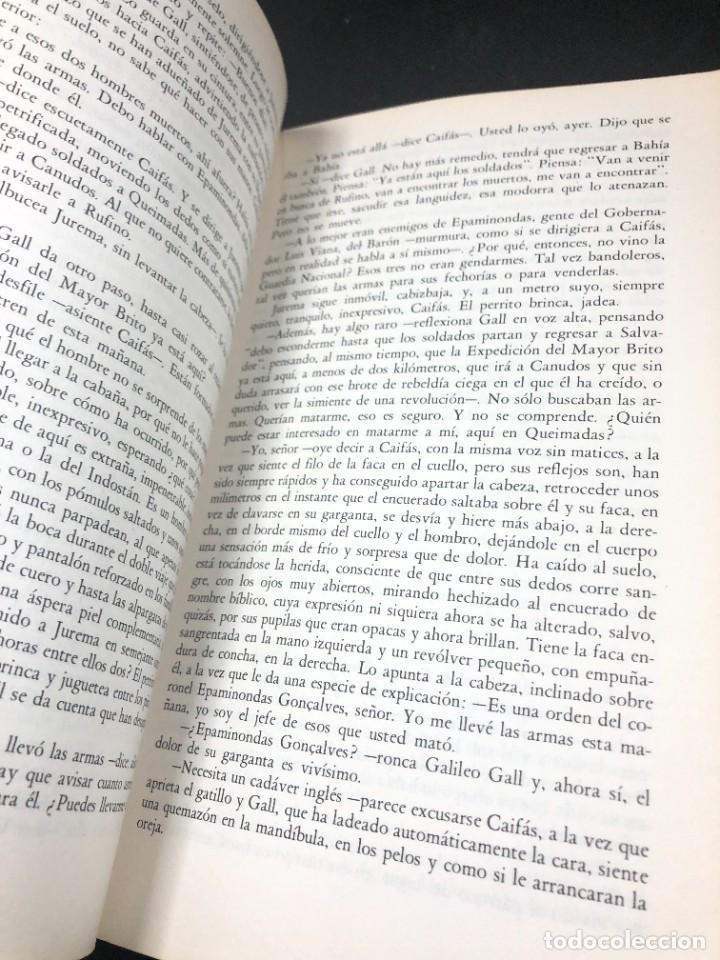 Libros de segunda mano: La guerra del fin del mundo Mario Vargas Llosa, Seix Barral 1981 1ª edición. - Foto 9 - 261364405