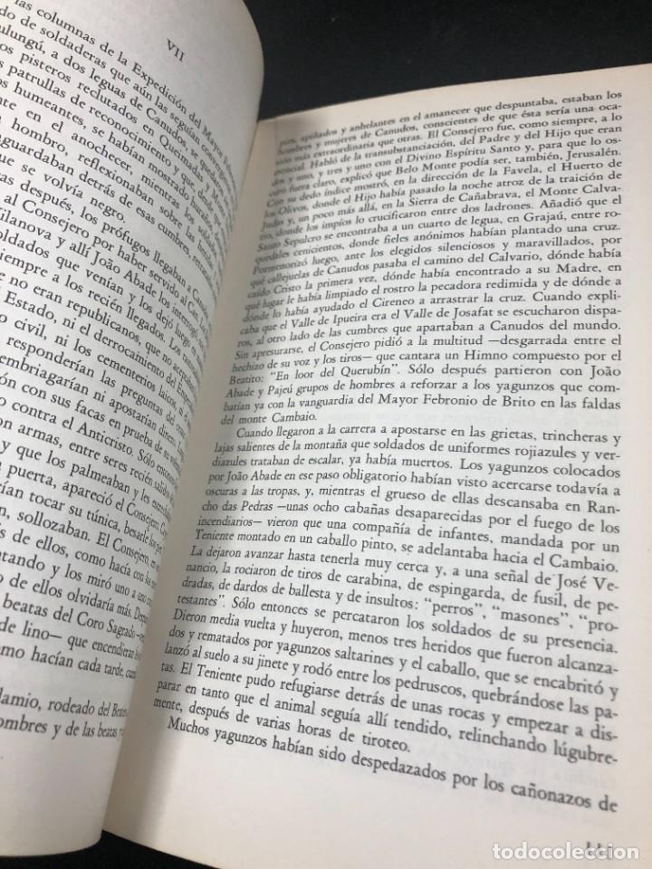 Libros de segunda mano: La guerra del fin del mundo Mario Vargas Llosa, Seix Barral 1981 1ª edición. - Foto 10 - 261364405