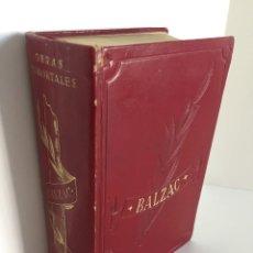 Libros de segunda mano: OBRAS INMORTALES. HONORÉ DE BALZAC. EUGENIA GRANDET. ILUSIONES PERDIDAS. EL CURA DE ALDEA. EDAF. Lote 261571025