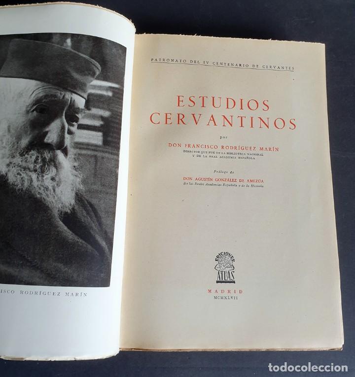 Libros de segunda mano: Estudios Cervantinos. D. Francisco Rodríguez Marín. Patronato de IV Centenario de Cervantes. 1942 - Foto 3 - 261586970