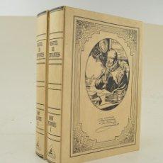 Libros de segunda mano: EL INGENIOSO HIDALGO DON QUIJOTE DE LA MANCHA, 1998, EDICIONES RUEDA, 2 TOMOS, MADRID. 33X24CM. Lote 262212760
