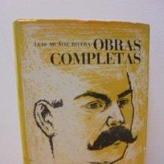 Libros de segunda mano: LUIS MUÑOZ RIVERA OBRAS COMPLETAS. PROSA ENERO-DICIEMBRE 1983. INSTITUTO DE CULTURA PUERTORRIQUEÑA. Lote 262578910