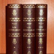 Libros de segunda mano: LOS MISERABLES. VICTOR HUGO. COMPLETO. 3 TOMOS. EDITORIAL LORENZANA.. Lote 262802500