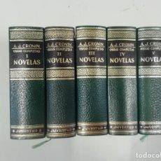 Libros de segunda mano: A J CRONIN - OBRAS COMPLETAS - 5 TOMOS - NOVELAS - CLÁSICOS Y MODERNOS - 3ª ED. 1970 - JUVENTUD. Lote 262850380