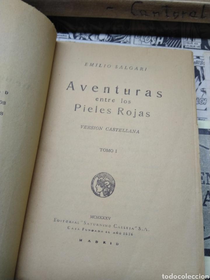 Libros de segunda mano: Aventuras entre los pieles rojas. Tomo primero. Salgari. Calleja. - Foto 4 - 263009725