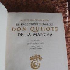 Libros de segunda mano: QUIJOTE 1961 PRIMERA EDICIÓN CON LAS ILUSTRACIONES DE AGUILAR MORÉ: EDITORIAL MARIN BARCELONA. Lote 263044755