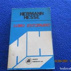 Libros de segunda mano: EL LOBO ESTEPARIO HERMANN HESSE ANAYA EDITORES AÑO 1977 IMPRESO EN MÉXICO POR EDITORA MEXICANA. Lote 263176510