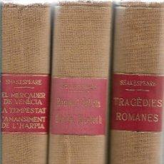 Libros de segunda mano: OBRES DE SHAKESPEARE EDITORIAL ALPHA -TRADUCCIONS DE JOSEP M DE SAGARRA-. Lote 263194350