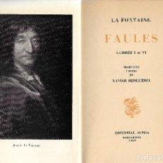 Libros de segunda mano: FAULES, LA FONTAINE. Lote 263194990