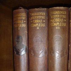 Libros de segunda mano: DOSTOYEVSKI OBRAS COMPLETAS AGUILAR 3 TOMOS EDICIÓN PIEL OPORTUNIDAD. Lote 264996844