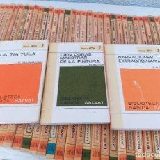 Libros de segunda mano: BIBLIOTECA BASICA SALVAT CASI COMPLETA CERCA DE 100 LIBROS. VER FOTOS. Lote 278359063