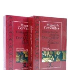 Libros de segunda mano: CASTALIA CLÁSICOS 77 78. DON QUIJOTE DE LA MANCHA. 2 VOLS (MIGUEL DE CERVANTES) CASTALIA, 2010. OFRT. Lote 266832114