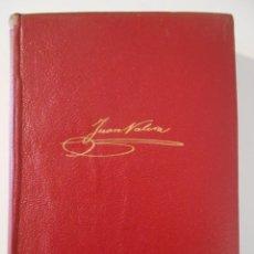 Libros de segunda mano: JUAN VALERA. OBRAS COMPLETAS. III. AGUILAR, 1958. PIEL. CINTA MARCAPAGINAS. 1477 PAGINAS. 600 GRAMOS. Lote 267109964