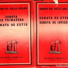 Libros de segunda mano: VALLE INCLÁN : LAS CUATRO SONATAS (LOSADA, 1938-1940). Lote 268856329