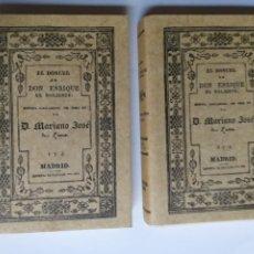 Libros de segunda mano: EL DONCEL DE DON ENRIQUE EL DOLIENTE MARIANO JOSÉ DE LARRA 1 Y 2 ,3 Y 4 . FACSÍMIL EDITORIAL MAXTOR. Lote 268885239