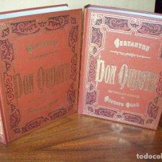 Libros de segunda mano: DON QUIJOTE DE LA MANCHA DE CERVANTES - EN DOS TOMOS CON 1600 PAGINAS APROXIMADAMENTE. Lote 268934004