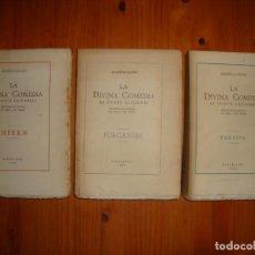 Libros de segunda mano: LA DIVINA COMEDIA - DANTE ALIGHIERI, TRADUÏDA AL CATALÀ EN RIMA I EN PROSA, MARQUÈS DE BALANZÓ, 1923. Lote 269188883
