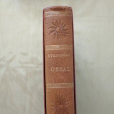 Libros de segunda mano: STENDHAL OBRAS. VERGARA 1963 PRIMERA EDICIÓN EN BUEN ESTADO. Lote 269224183