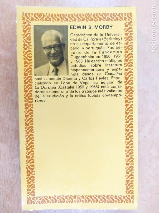 Libros de segunda mano: LA ARCADIA / LOPE DE VEGA / EDICIÓN DE EDWIN S. MORBY / 1975. CASTALIA - Foto 4 - 269245448
