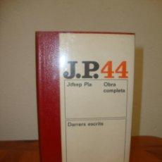 Libros de segunda mano: OBRA COMPLETA, 39: EL VIATGE S'ACABA - JOSEP PLA - DESTINO, MOLT BON ESTAT. Lote 269803698