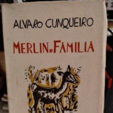 Libros de segunda mano: ÁLVARO CUNQUEIRO, MERLÍN E FAMILIA (1ªEDICIÓN, 1955). Lote 269812268