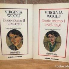 Libros de segunda mano: DIARIO ÍNTIMO . 2 VOL. I- (1915-1923). II- (1924-1931). VIRGINIA WOOLF.. Lote 269846803