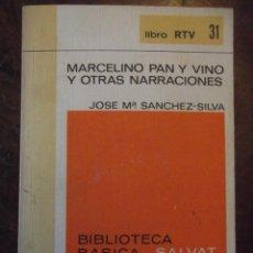 """Libros de segunda mano: LIBRO ANTIGUO """" MARCELINO PAN Y VINO """". Lote 271384408"""